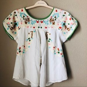 Hazel Embroidered Peasant Top